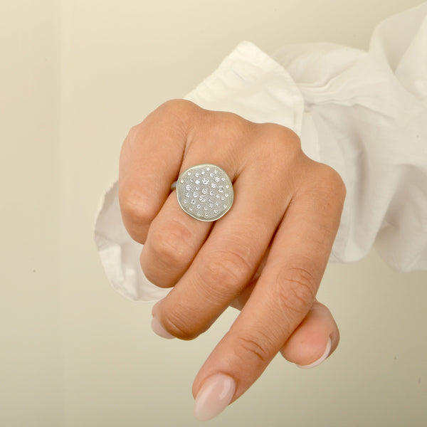 Diamond 'Stardust' Disc Ring