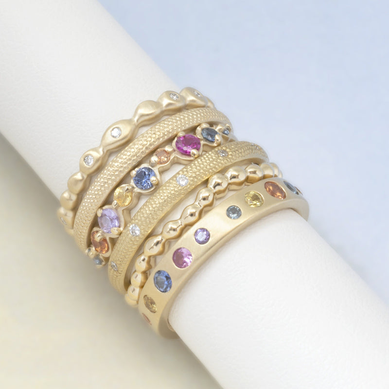 Scattered Diamond Seed Band - Anne Sportun Fine Jewellery Toronto, Canada, and U.S.