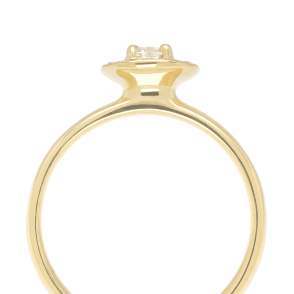 "Yellow Gold ""Original Halo"" Diamond Engagement Ring"
