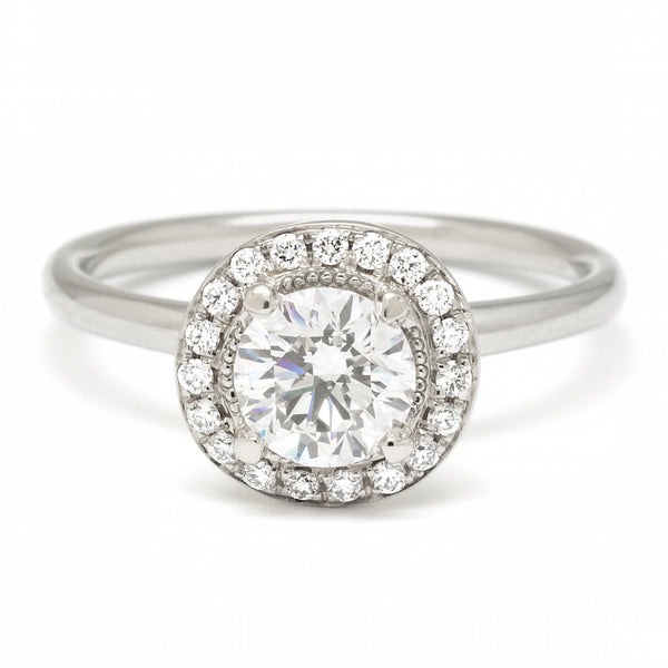 White Gold 'Original Halo' Ring with Diamond