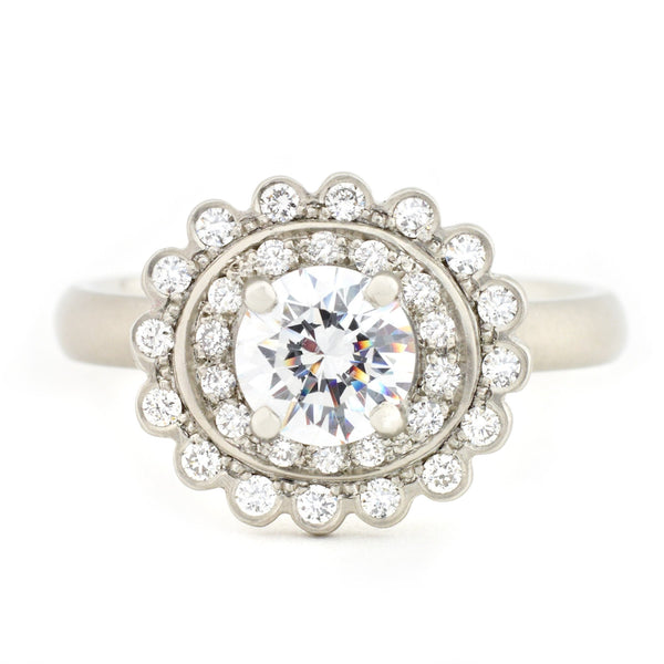 Scalloped Engagement Ring - Anne Sportun Fine Jewellery