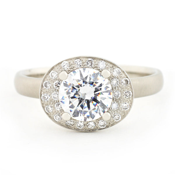 Oval Double Halo Engagement Ring - Anne Sportun Fine Jewellery