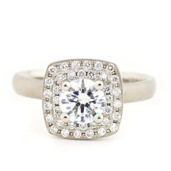 Cushion Double Halo Engagement Ring - Anne Sportun Fine Jewellery