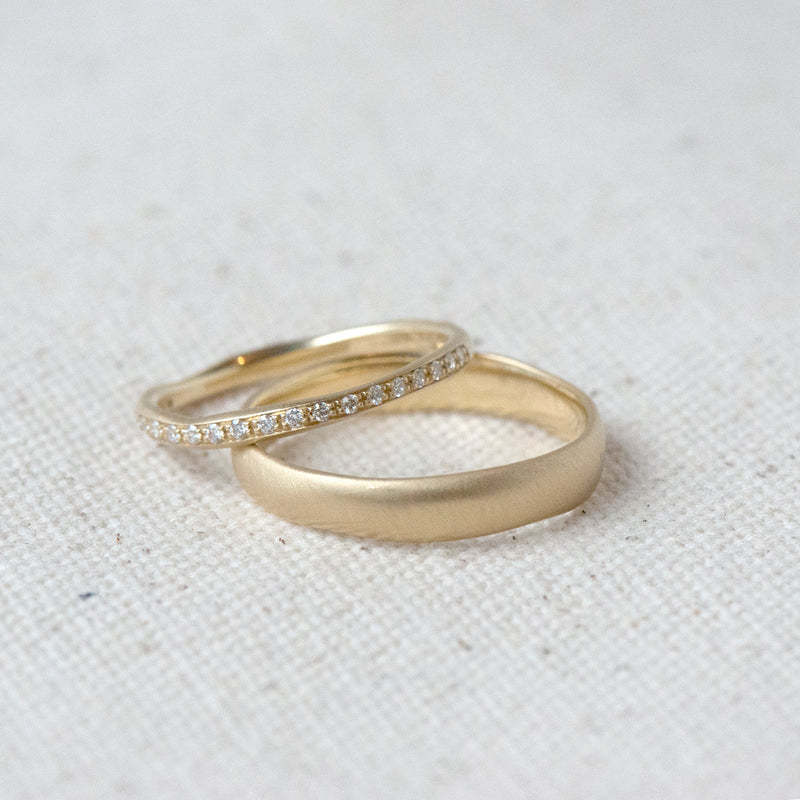 Wonky 4mm Wide Band - Anne Sportun Fine Jewellery