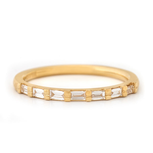 Seven Diamond Baguette Band - Anne Sportun Fine Jewellery Toronto, Canada, and U.S.