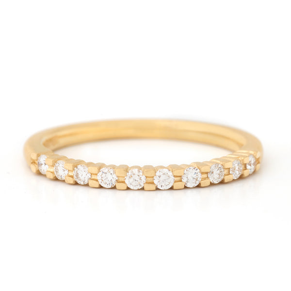 Gold Claw Set Diamond Band - Anne Sportun Fine Jewellery
