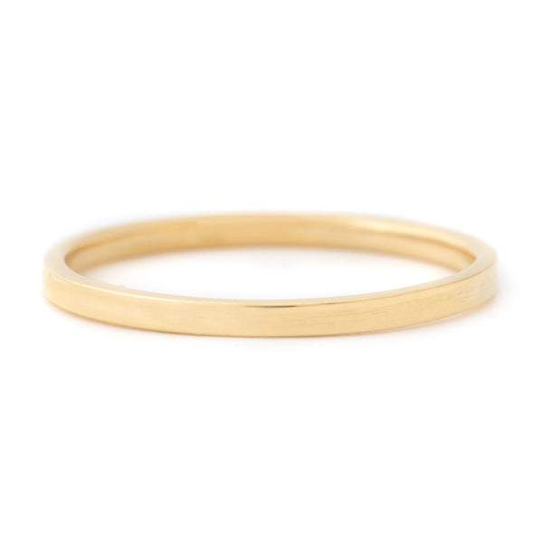Minimalist Flat Top Band - Anne Sportun Fine Jewellery