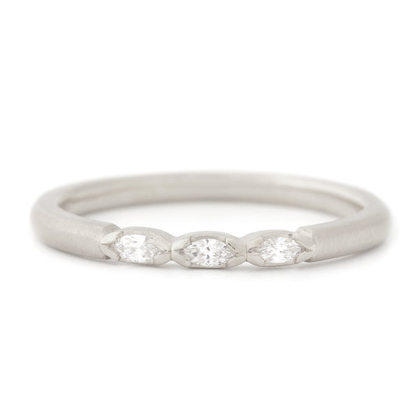 Three Marquise Diamond Band - Anne Sportun Fine Jewellery