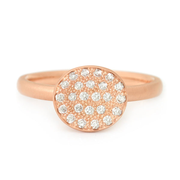 Mini Petal Paved Diamond Ring - Anne Sportun Fine Jewellery