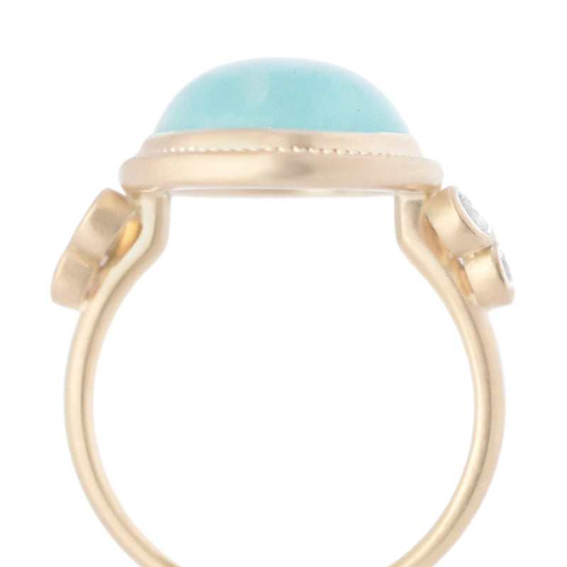 Oval Amazonite Ring - Anne Sportun Fine Jewellery
