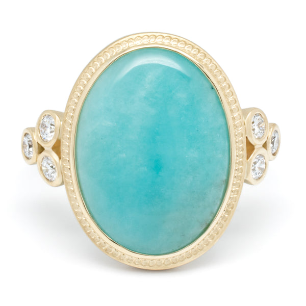 Oval Amazonite Ring - Anne Sportun Fine Jewellery Toronto, Canada, and U.S.