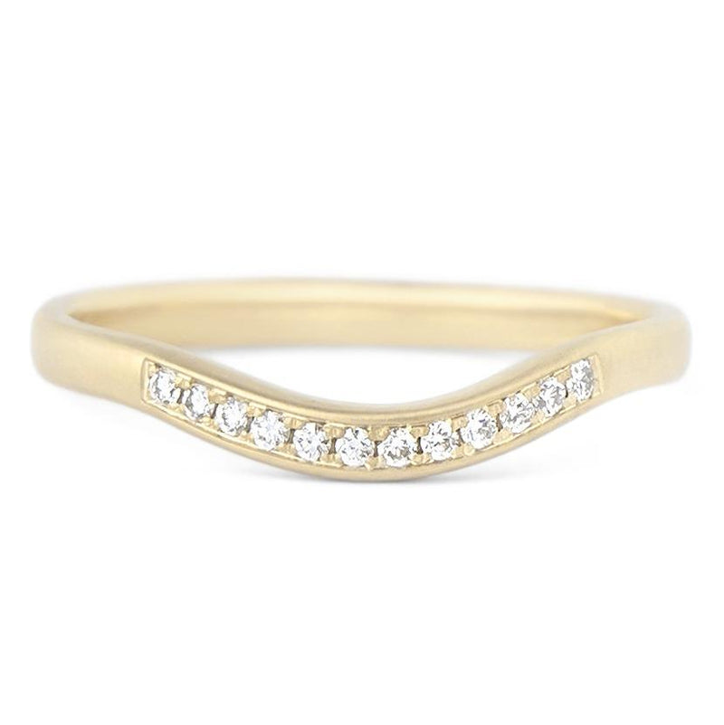 Diamond Wave Cup Jacket Band - Anne Sportun Fine Jewellery
