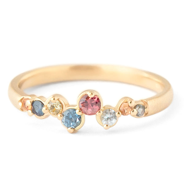 Multi-Coloured Sapphire Festival Ring - Anne Sportun Fine Jewellery Toronto, Canada, and U.S.