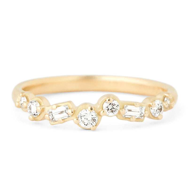 Cascade Baguette and Round Diamond Band - Anne Sportun Fine Jewellery