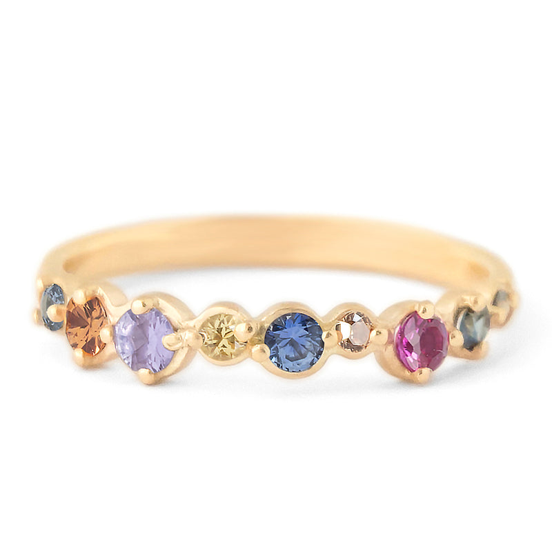 Multi-Coloured Sapphire Festival Cap Ring - Anne Sportun Fine Jewellery