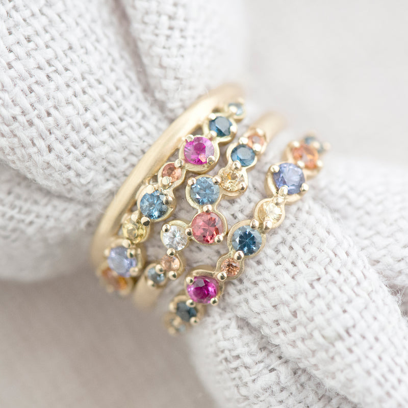 Multi-Coloured Sapphire Festival Ring - Anne Sportun Fine Jewellery