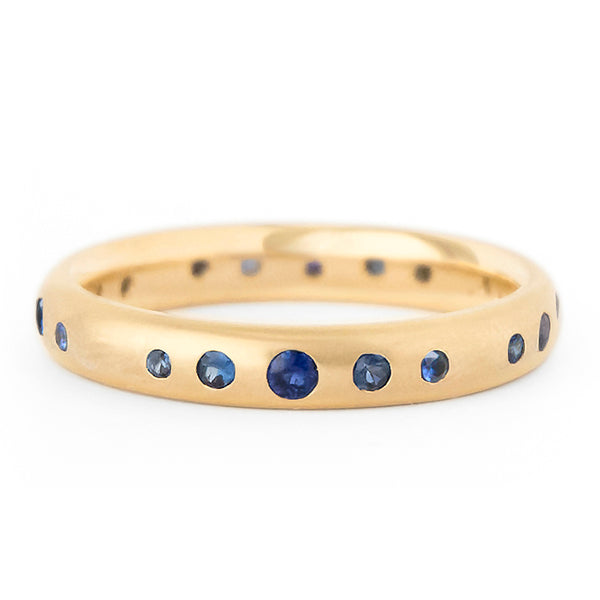 Blue Sapphire Gypsy Set Band - Anne Sportun Fine Jewellery
