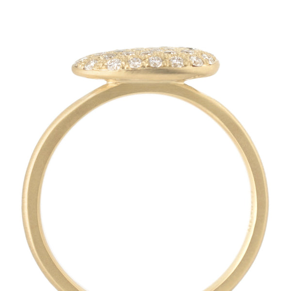 Pebble Ring with Pave Set Diamonds - Anne Sportun Fine Jewellery