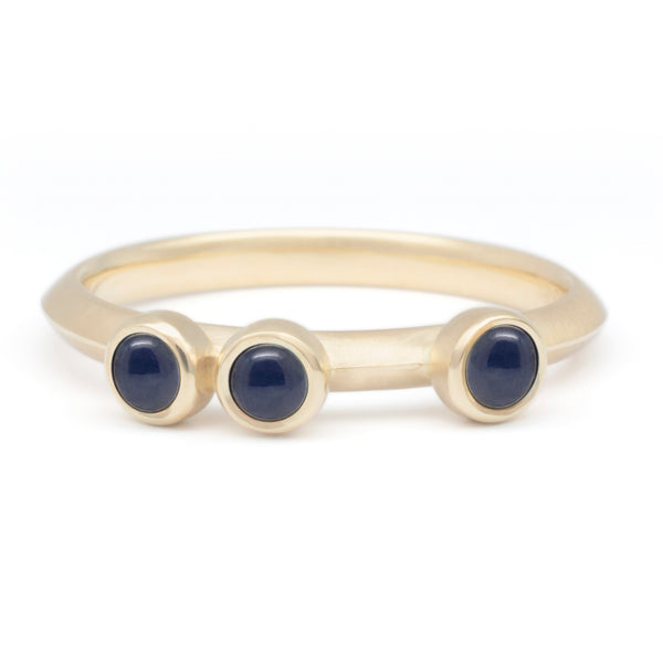 Scattered Blue Sapphire Stacker Ring - Anne Sportun Fine Jewellery