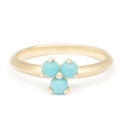 Gemstone Trillium Stacker Ring - Anne Sportun Fine Jewellery