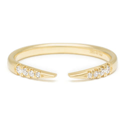 Open Tapered Band with Diamonds