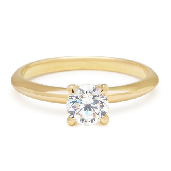 Solitaire Bridal Mount with Knife Edge Band - Anne Sportun Fine Jewellery