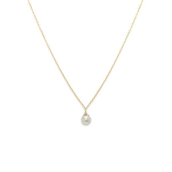 ROSECUT NECKLACE | 14K GOLD & DIAMOND