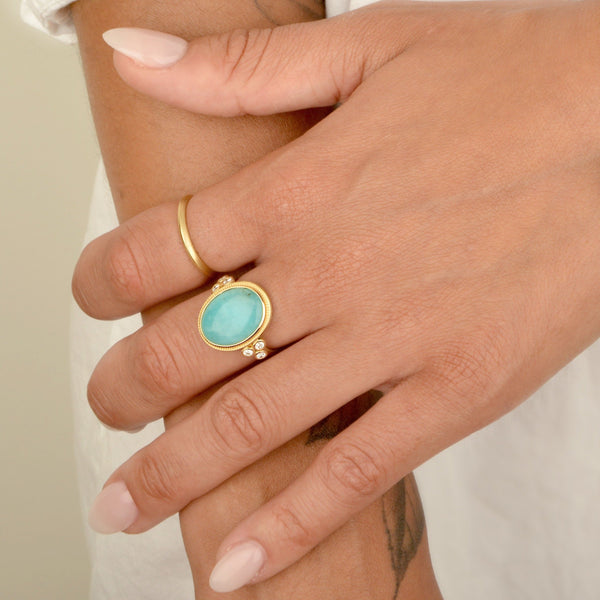 Oval Amazonite Ring