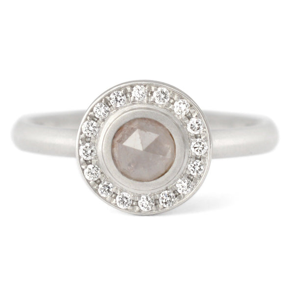 One of a Kind Taupe Round Diamond Ring - Anne Sportun Fine Jewellery