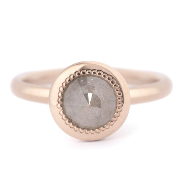 One of a Kind Rosecut Grey Diamond Ring - Anne Sportun Fine Jewellery
