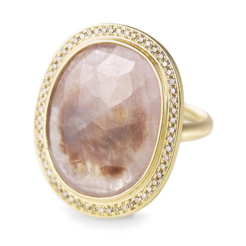 One of a Kind Beige Rose Cut Sapphire Ring - Anne Sportun Fine Jewellery