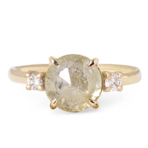 One of a Kind Pale Yellow Diamond Ring - Anne Sportun Fine Jewellery Toronto, Canada, and U.S.