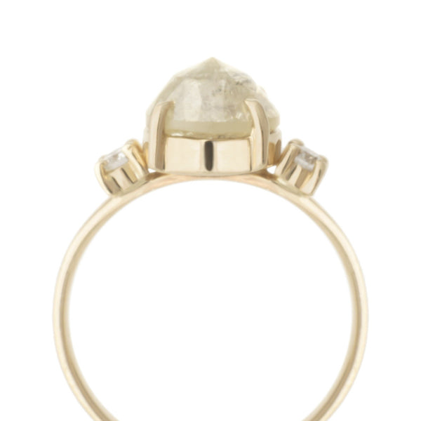One of a Kind Pale Yellow Diamond Ring - Anne Sportun Fine Jewellery
