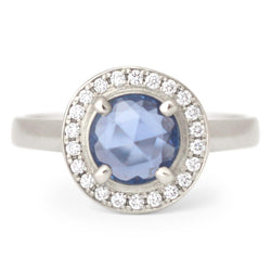 One of a Kind Blue Sapphire Ring - Anne Sportun Fine Jewellery