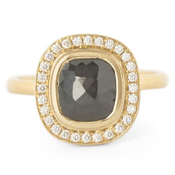 One of a Kind Black Rosecut Diamond Ring - Anne Sportun Fine Jewellery