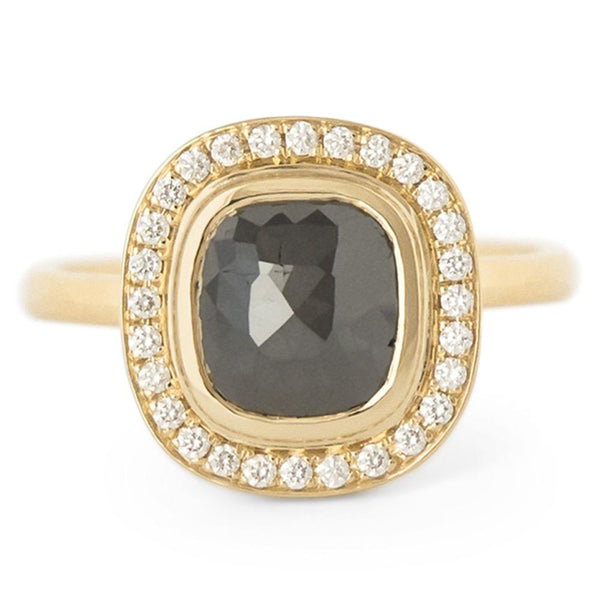 One of a Kind Black Rosecut Diamond Ring - Anne Sportun Fine Jewellery Toronto, Canada, and U.S.