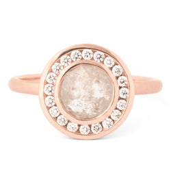 One of a Kind Grey Diamond Rose Gold Ring