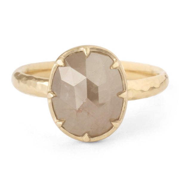 One of a Kind Taupe Raw Diamond Ring - Anne Sportun Fine Jewellery
