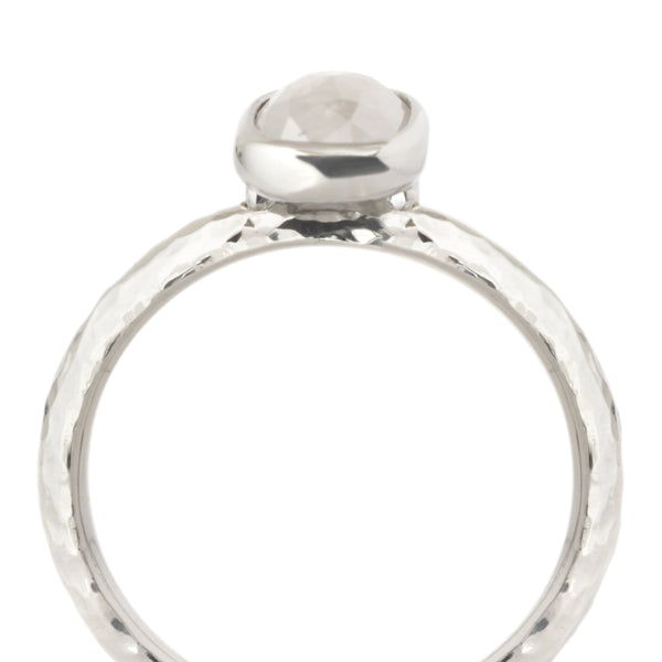 One of a Kind Bezel Cushion Diamond Ring - Anne Sportun Fine Jewellery