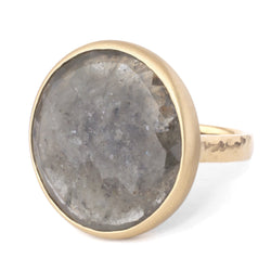 One of a Kind Bezel Grey Sapphire Ring - Anne Sportun Fine Jewellery Toronto, Canada, and U.S.
