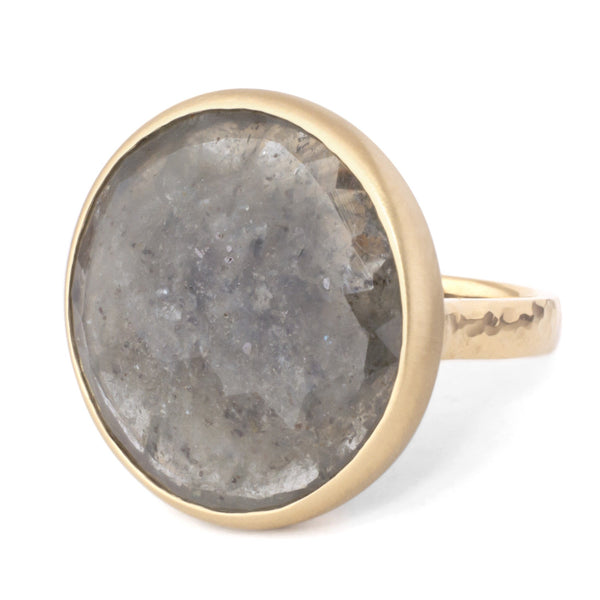 One of a Kind Bezel Grey Sapphire Ring - Anne Sportun Fine Jewellery