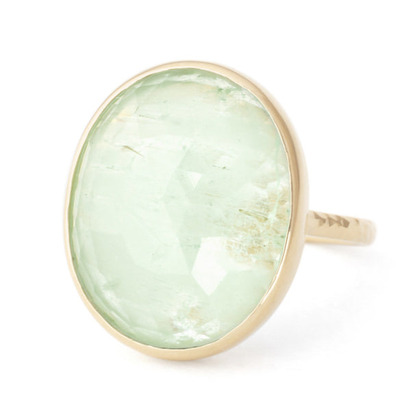 One of a Kind Oval Emerald Ring - Anne Sportun Fine Jewellery