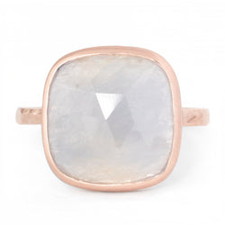 One of a Kind Grey Cushion Sapphire Ring - Anne Sportun Fine Jewellery