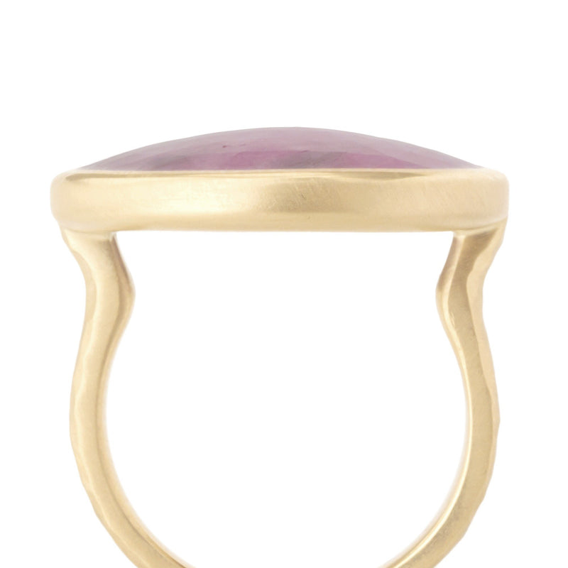 One of a Kind Mottled Pink Sapphire Ring - Anne Sportun Fine Jewellery Toronto, Canada, and U.S.