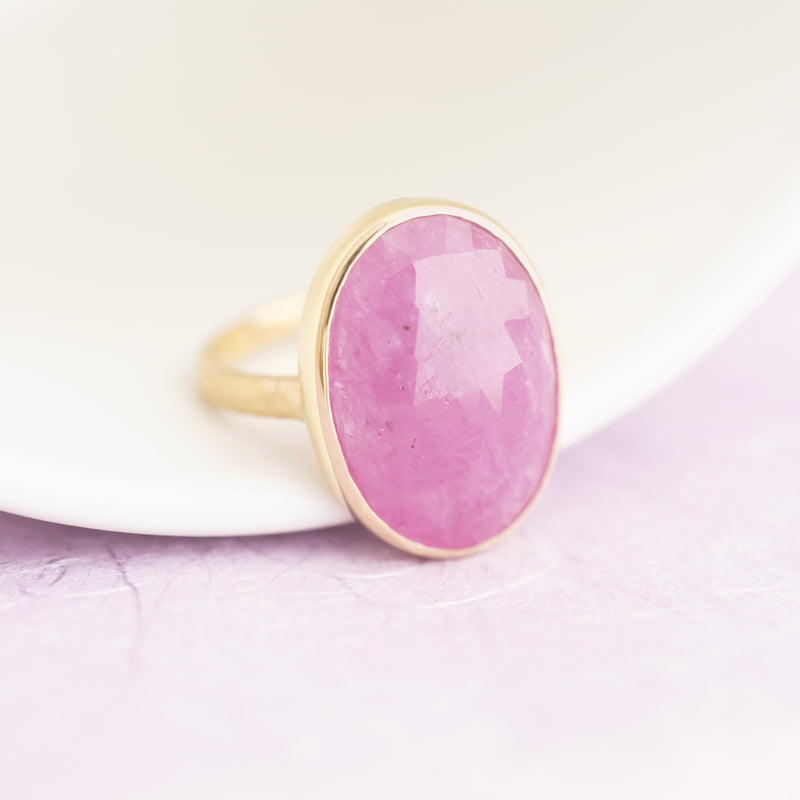 One of a Kind Pink Ruby Ring - Anne Sportun Fine Jewellery