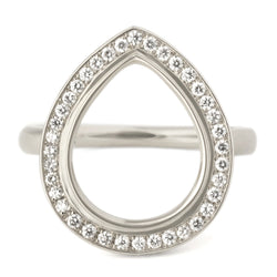 One of a Kind Open Pear Pave Ring - Anne Sportun Fine Jewellery