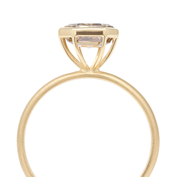 Champagne Rosecut Polygon Diamond Ring - Anne Sportun Fine Jewellery