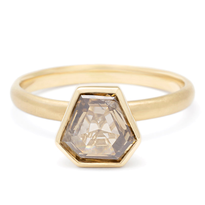 Champagne Rosecut Polygon Diamond Ring - Anne Sportun Fine Jewellery Toronto, Canada, and U.S.
