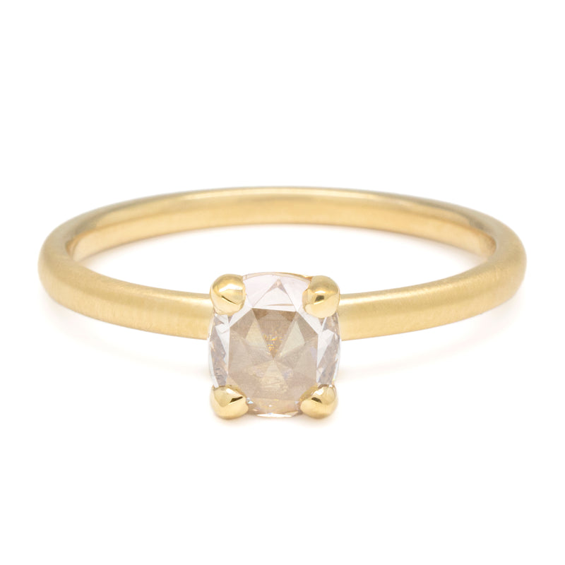 One of a Kind Rose Cushion Diamond Ring - Anne Sportun Fine Jewellery