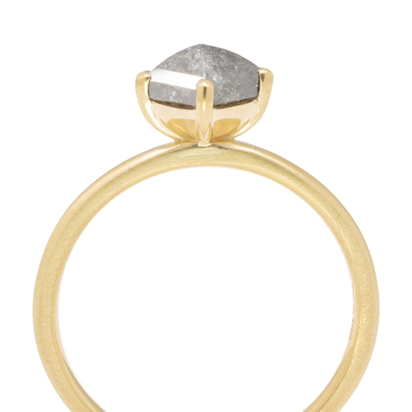 Rosecut Polygon Diamond Ring - Anne Sportun Fine Jewellery